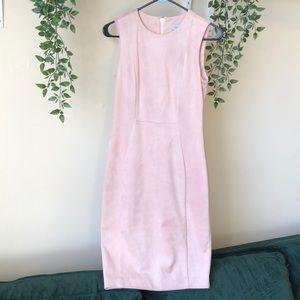 Calvin Klein Faux Suede Blush Dress